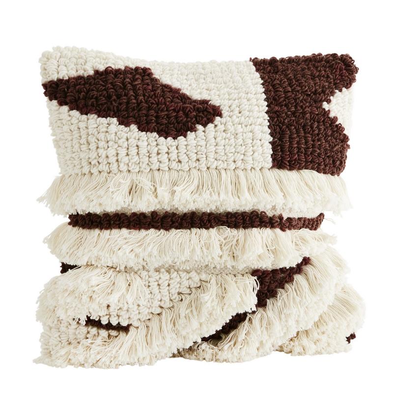 housse de coussin berb re franges madam stoltz le. Black Bedroom Furniture Sets. Home Design Ideas