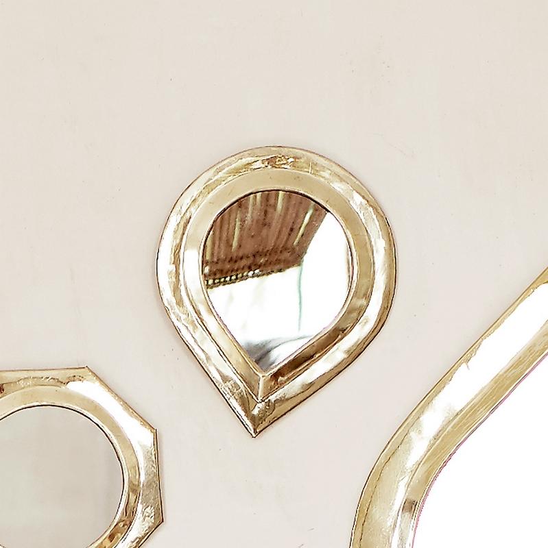 Petit miroir en laiton goutte dor tine k home le joli for Petit miroir dore
