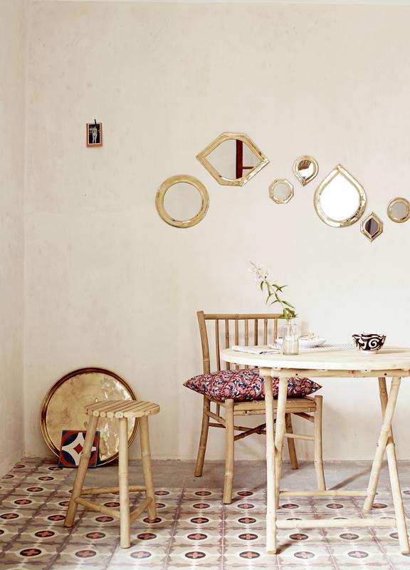 Petit miroir en laiton octo dor tine k home le joli shop for Petit miroir dore
