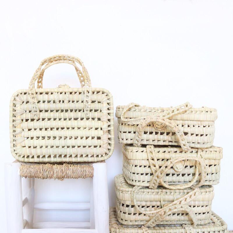 Valisette En Feuilles De Palmier Traditionnelle Marocaine S Le Joli Shop