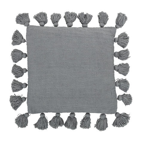 coussin-gris-pompons-bloomingville