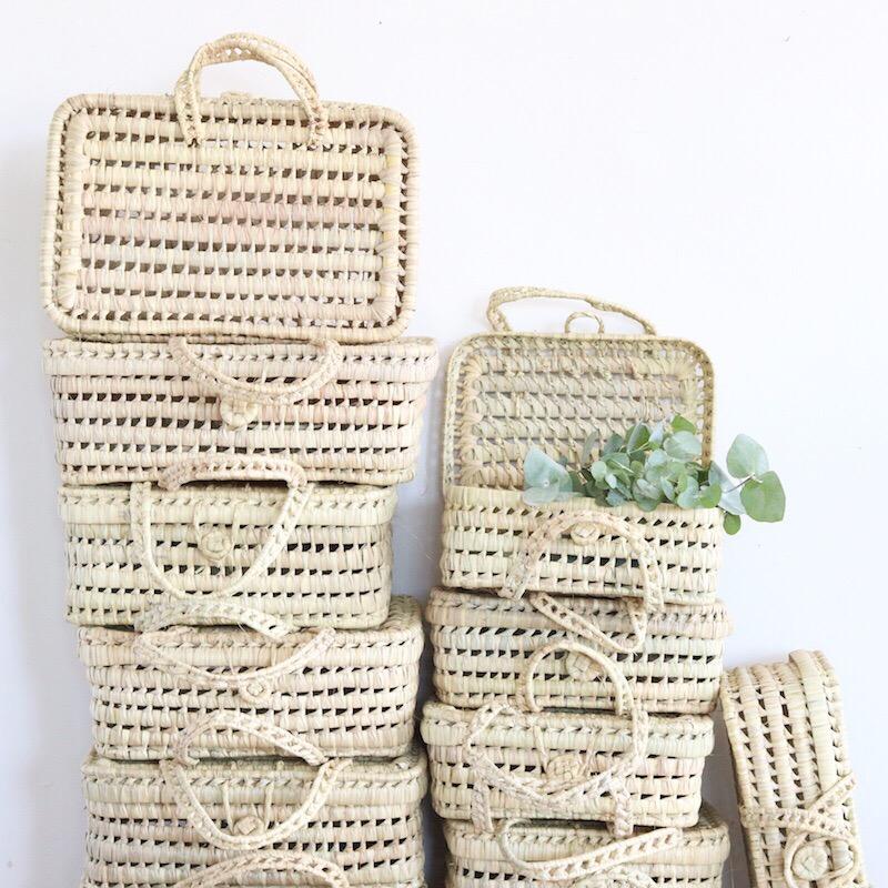 Valisette En Feuilles De Palmier Traditionnelle Marocaine M Le Joli Shop